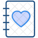 Heart Valentines Day Note Icon