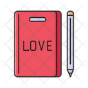 Love Book Notebook Icon