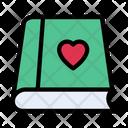 Book Heart Love Icon