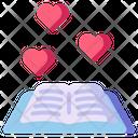 Love Book Book Education Icon