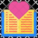 Love Book Book Romance Icon