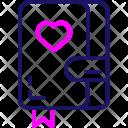 Love Book Date Icon