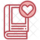 Love Books Romantic Novel Story Icon