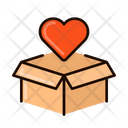 Love Box Delivery Shipping Icon