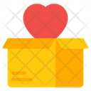 Love Box Love Carton Heart Box Icon