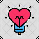 Valentine Day Bulb Light Icon