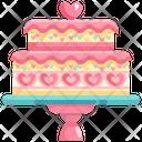 Love Cake Valentine Cake Wedding Cake Icon