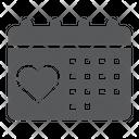 Love Calendar Valentine Icon