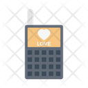 Phone Love Heart Icon