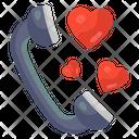 Love Call Love Telecommunication Romantic Call Icon