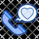Love Call Phone Call Icon