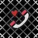 Phone Communication Romantic Icon