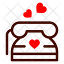 Telephone Call Heart Icon