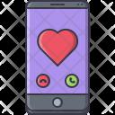 Phone Call Heart Icon