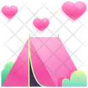 Love Camp Valentine Camp Love Icon