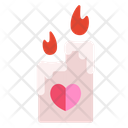 Love Candle Candle Romantic Icon