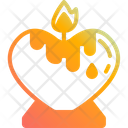 Love Candle Heart Shaped Love Icon