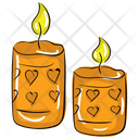 Love Candles Valentine Light Candlelight Icon
