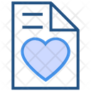 Heart Valentines Day Paper Icon