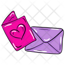 Love Card Love Greetings Valentine Card Icon