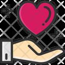 M Care Love Care Heart Care Icon