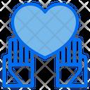 Heart Love Peace Icon