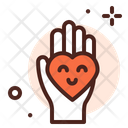 Love Care Giving Hand Icon