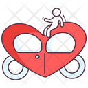 Love Carriage Love Brougham Wedding Cart Icon