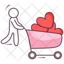 Love Cart Icon