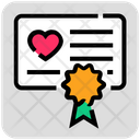 Valentine Day Badge Certificate Icon
