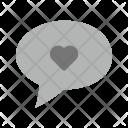 Chat Bubble Love Icon