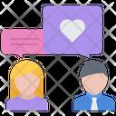 Talk People Heart Icon