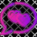 Valentine Day Chat Heart Icon