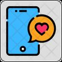 Valentine Day Chat Message Icon
