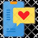 Smartphone Love Message Icon
