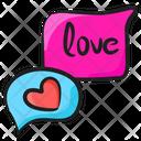 Romantic Chat Speech Bubble Love Chat Icon