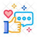 Love Chat Communication Icon