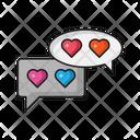 Love Chat Romance Icon