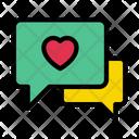 Love Chat Conversation Icon