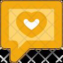 Social Media Chat Heart Icon