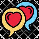 Speech Bubble Heart Chat Box Icon