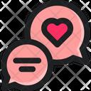 Love Talk Chat Icon