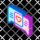 Loving Correspondence Isometric Icon