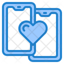 Love Chat Smartphone Mobilephone Icon