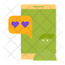 Love Chat Love Heart Icon
