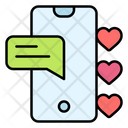 Love Chat Chat Heart Icon