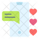 Smartphone Chat Heart Icon