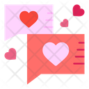 Love Chat Communication Heart Icon