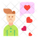 Male Chat Heart Icon