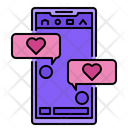 Chat Love Heart Icon
